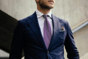 Custom jacket, shirt and tie by Dalbiondo Tailoring