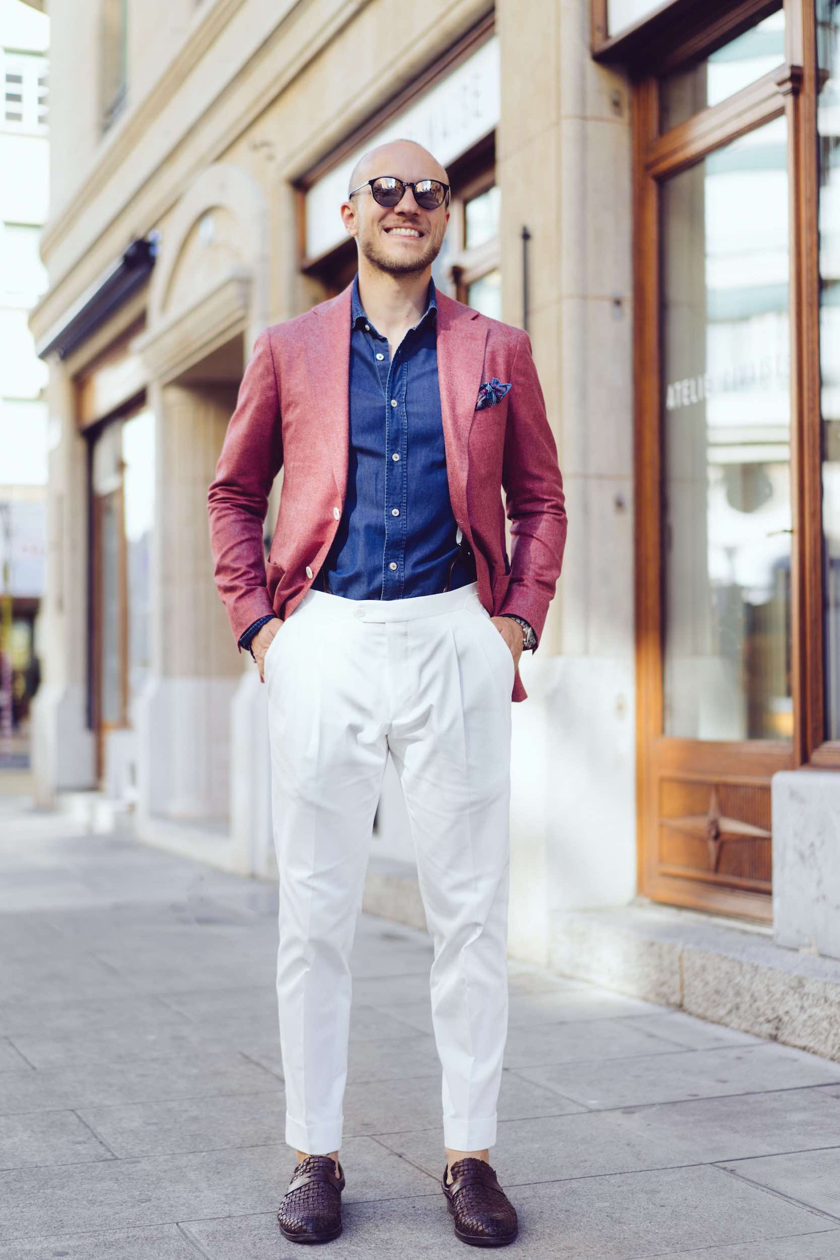 Man in Dalbiondo MTM jacket. trousers and shirt